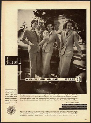 1947 Vintage ad for Harrold Wonderful Pastel Gabardines  (062312)