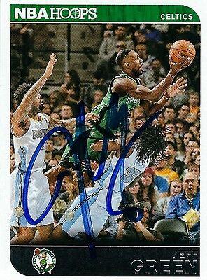 Signed 2014-15 Panini Hoops Jeff Green Boston Celtics  Basketball card -