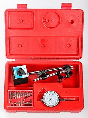 Dial Indicator Magnetic Base Point Precision Inspection Set New