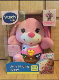 Vtech little singing puppy (pink)