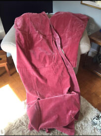 Pink velour/ velvet curtains 90 x 90
