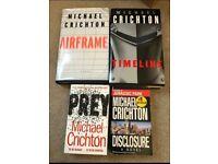 Michael Crichton books x 4