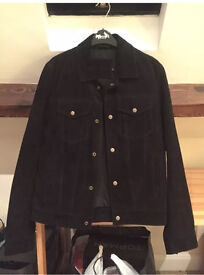 Suede Western Jacket in Black (NEW) Standard Small