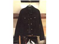 Suede Western Jacket in Black (NEW) Standard Small