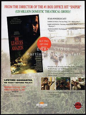 800 Leagues Down The Amazon  Original 1993 Trade Ad   Movie Promo  Daphne Zuniga