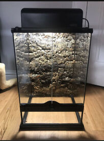 Exo Terra terrarium with lighting and background 30x30x45 reptile tarantula