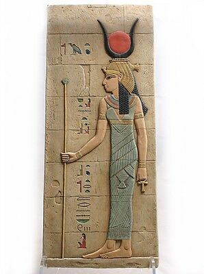 Large Egyptian Isis Goddess Wall Relief Replica like Fragment 21.5H E-037SP-BLUE (Goddess Blue)