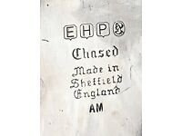 Antique Tray - EHP chased made in Sheffield AM