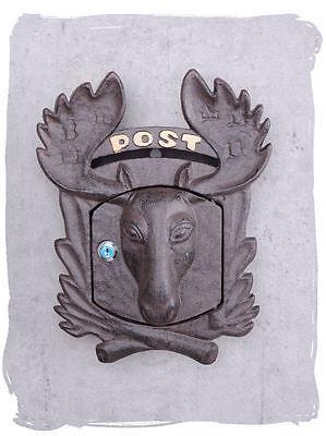 Briefkasten Elch Kopf skandinavischer Wandbriefkasten Antik Stil
