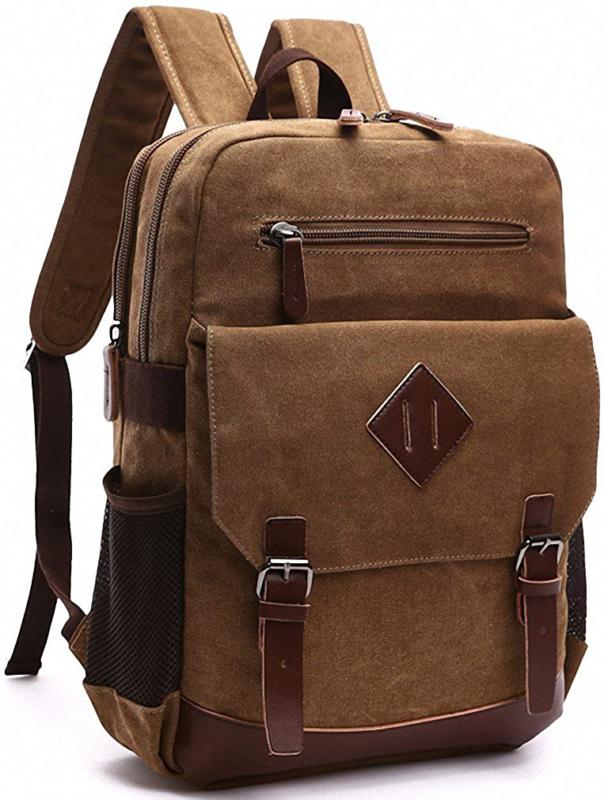 kenox mens large vintage canvas backpack school