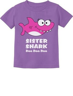 Sister Shark doo Doo Gift For Big Little Sister Toddler Kids T-Shirt Dance Baby