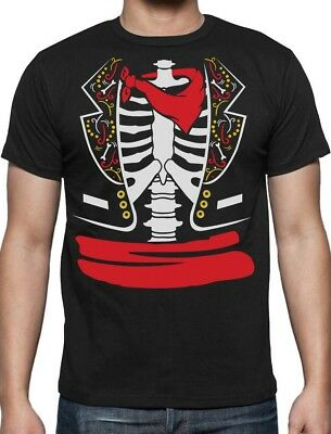 Day of The Dead Halloween Mexican Skeleton Rib Cage Costume T-Shirt Gift Idea