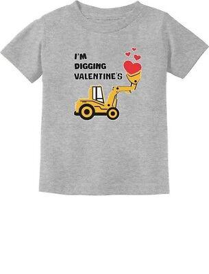 I'm Digging Valentine's Gift For Tractor Loving Boys Toddler/Infant Kids T-Shirt