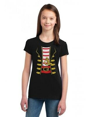 Halloween Pirate Buccaneer Costume Outfit Suit Girls' Fitted Kids T-Shirt