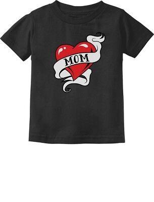 Mom Heart Tattoo Valentine's Day Gift Love Mom Toddler/Infant Kids T-Shirt Mommy - Valentine Tattoo