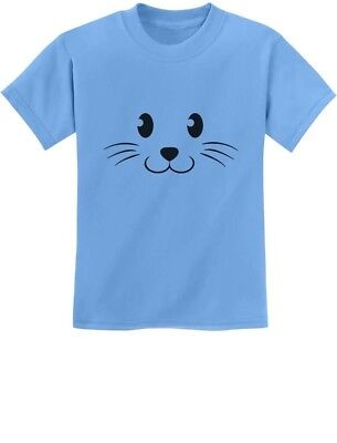 Cute Face Halloween Easy Costume Youth Kids T-Shirt Gift](Cute Easy Costume)