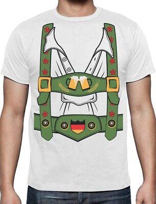 Oktoberfest Bavarian Lederhosen Funny Costume Octobeerfest T-Shirt Gift - Funny Lederhosen Costume