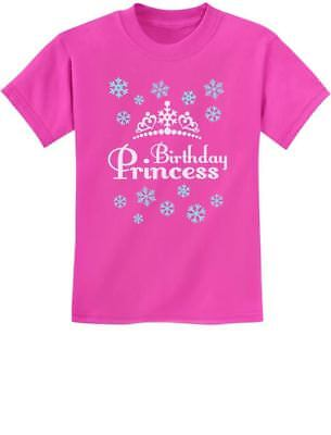 Birthday Princess Little Girls Gift Idea Adorable Youth Kids T-Shirt Frozen - Little Girl Birthday Ideas
