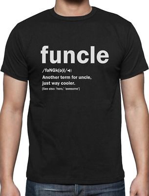 Funny Uncle Funcle Definition Gift For Humor Holiday Christmas T-Shirt S - 5XL ()