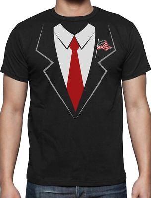 Donald Trump Suit & Tie Easy Halloween Costume T-Shirt Funny