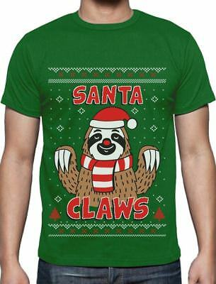 Santa Claws Sloth Ugly Christmas Sweater Funny Xmas T-Shirt Gift Idea - Ugly Christmas Sweaters Ideas