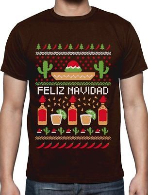 Feliz Navidad Mexican Ugly Christmas Sweater Funny Xmas T-Shirt Gift Idea ()