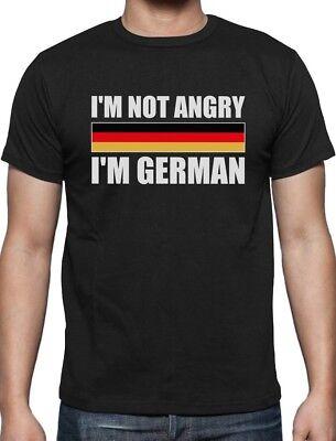 I'm Not Angry, I'm German Funny Oktoberfest T-Shirt Germany Flag