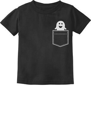 Ghoul Halloween Ghost Pocket Print Costume Toddler Kids T-Shirt Funny - Toddler Ghost Halloween Costumes