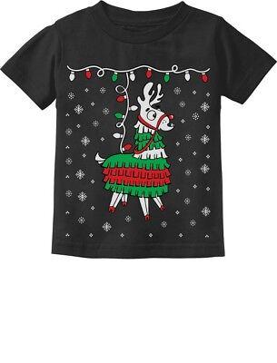Llama Pinata Ugly Christmas Sweater Toddler Kids T-Shirt Cinco De Mayo](Toddler Pinata)