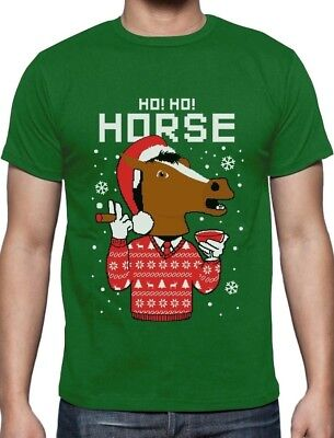 Horse Mask Ugly Christmas Sweater Holiday T-Shirt Gift - Christmas Sweater T-shirt