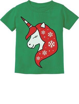 Christmas Unicorn Holiday Girls Xmas Outfit Toddler Kids T-Shirt Gift Idea ()