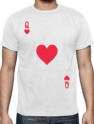 Queen Of Hearts Playing Card Easy Halloween Costume T-Shirt - Easy Queen Of Hearts Halloween Costume