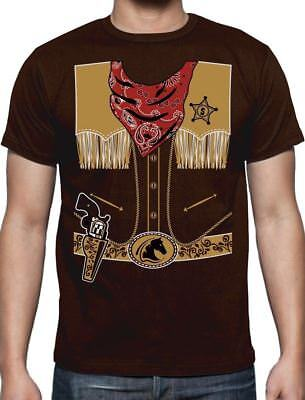 Cowboy Halloween Easy Costume Outfit T-Shirt Gift](Halloween Easy Costume)