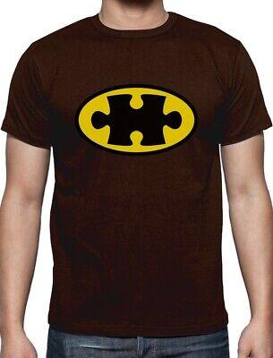 Autism Awareness SuperHero Puzzle Logo T-Shirt Support The Cause - Autism Superhero
