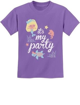 It's My Party - Lil Mermaid Birthday Gift Idea Cute Youth Kids T-Shirt - Kids Bday Party Ideas