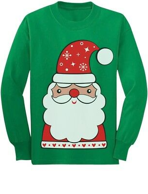 Cute Santa Claus Outfit For Christmas Toddler/Kids Long sleeve T-Shirt  - Cute Christmas Outfits For Kids