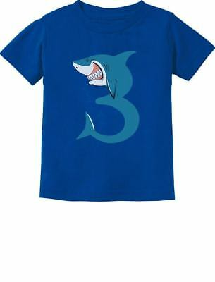 Birthday Shirts For Toddlers (3rd Birthday Shark Party Gift for 3 Year Old Toddler Kids T-Shirt Shark)