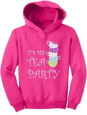 Best Birthday Gift for little Girls Birthday Tea Party Toddler Hoodie