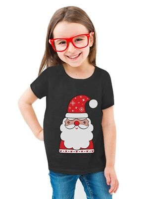 Cute Santa Claus Outfit For Christmas Toddler/Kids Girls' Fitted T-Shirt  - Santa Outfits For Toddlers