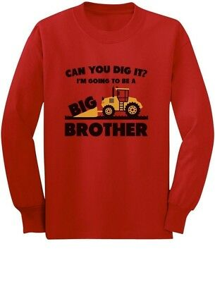 Going To be Big Brother Tractor Loving Boys Gift Toddler Kid Long sleeve