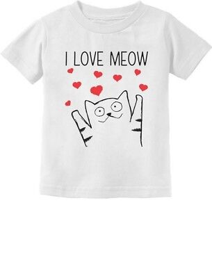 I Love Meow - Cute Valentine's Gift for Cat Lovers Toddler/Infant Kids T-Shirt