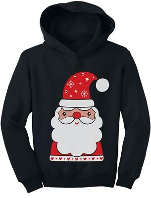 Cute Santa Claus Outfit For Christmas Toddler Hoodie  - Santa Outfits For Toddlers