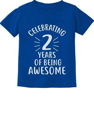2 Years Of Being Awesome! Birthday Gift For 2 Year Old Toddler Kids T-Shirt