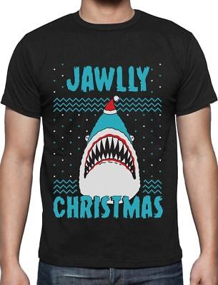 Jawlly Christmas Ugly Christmas Sweater For Xmas Party Shark T-Shirt Gift Idea