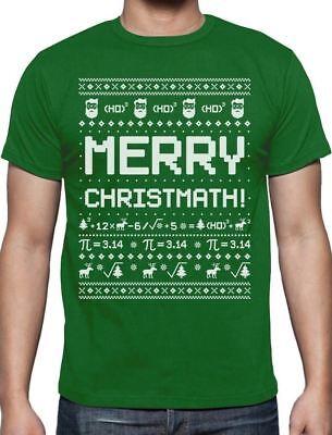 Merry Christmath Funny Math Ugly Christmas Sweater T-Shirt Gift Idea](Ugly Christmas Shirt Ideas)