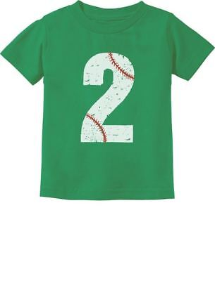 Baseball 2nd Birthday Gift for Two Year old Toddler Kids T-Shirt 2 year old](Gift For Two Year Old)