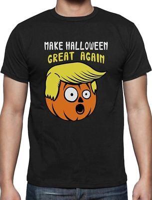 Make Halloween Great Again Donald Trump jack o lantern Pumpkin T-Shirt Funny