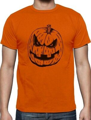 Easy Halloween Pumpkins (JACK O' LANTERN Easy Halloween Costume Evil Pumpkin Face T-Shirt)