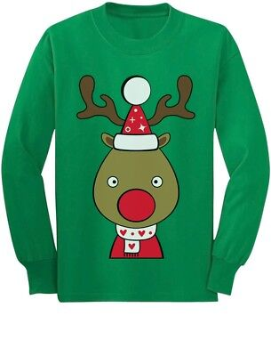 Christmas Outfit For Toddler Boy (Cute Reindeer Outfit For Christmas Toddler/Kids Long sleeve T-Shirt Girls)