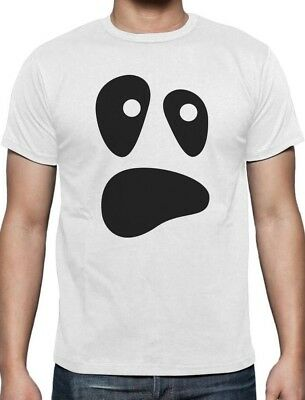 Halloween Ghost Costume Funny Ghoul Face T-Shirt Spooky
